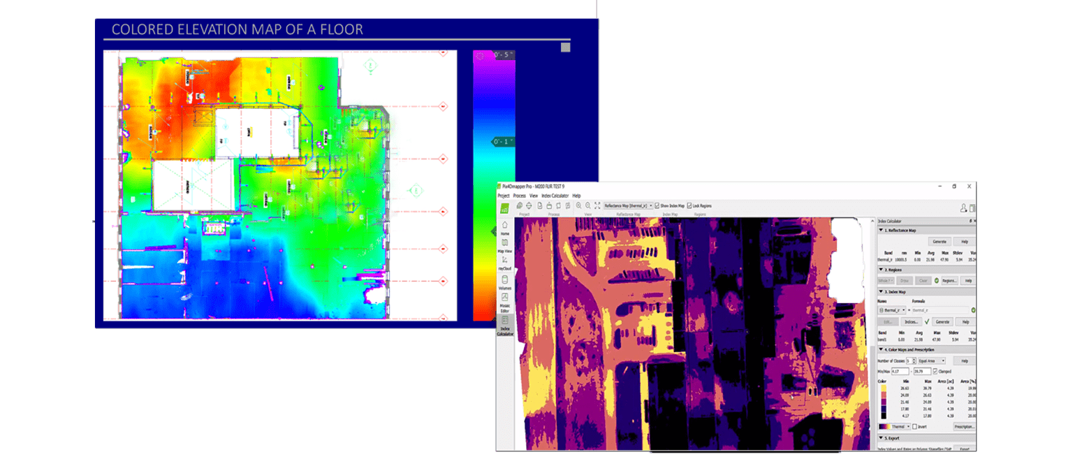 Floor Variation Data from Heat Map