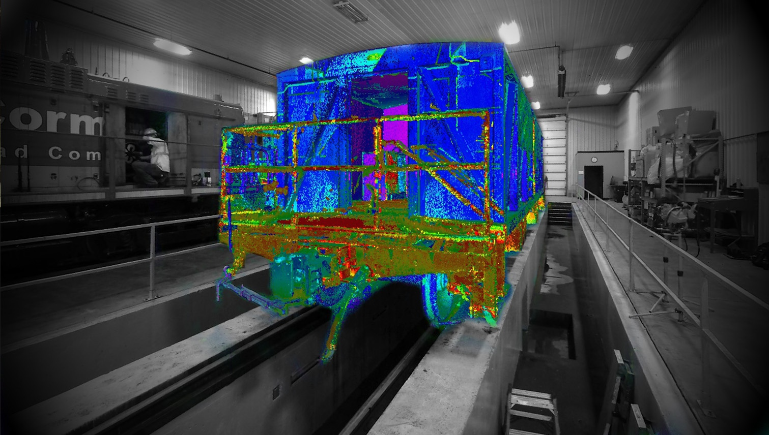 3D POINT CLOUD RAILCAR OVERLAY
