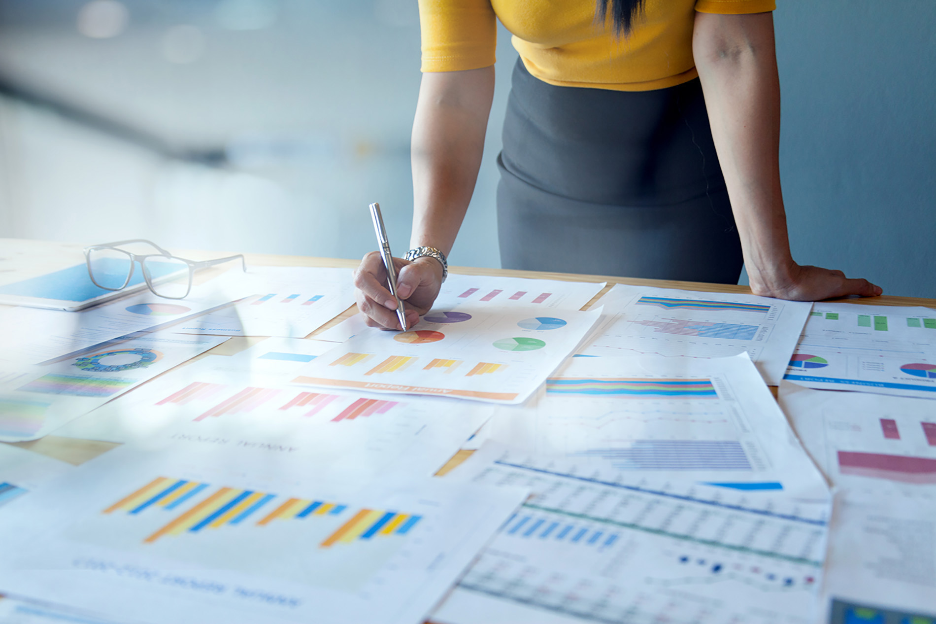 Assessing business processes, workforce and technologies for a strategy for improvement